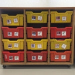 Numeracy and literacy work boxes